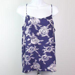 Equipment Femme blue white floral cami tank top